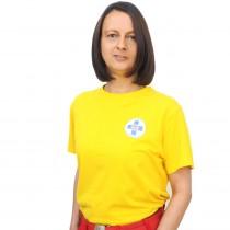 T-Shirt gelb Baumwolle unisex