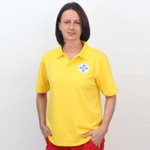 Polo Gelb Funktionsmaterial Damen